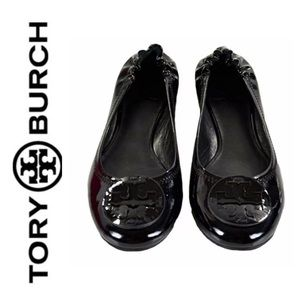 ⭐️Tory Burch Black REVA Patent Ballet Flats Size 5
